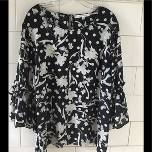 Rose & Olive Lilly & Polka Dot Top Blouse 2X